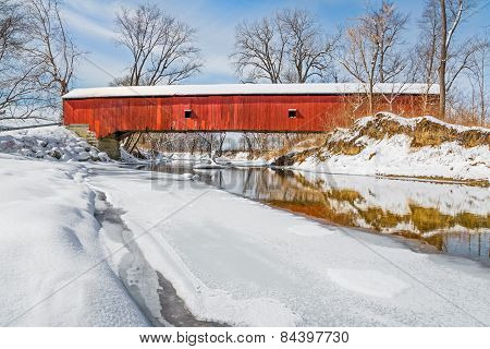 Snowy Oakalla Covered Bridge