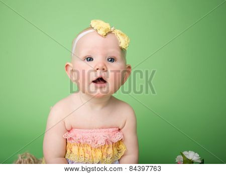 Baby In Easter Outfit,