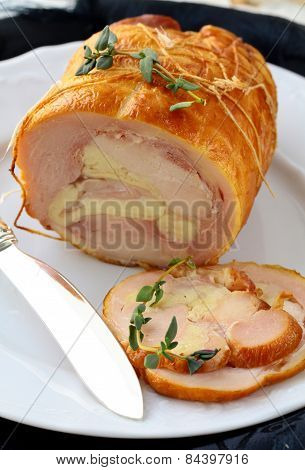 meatloaf with turkey (chicken) with herbs and spices