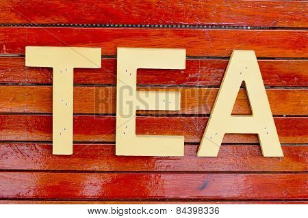 Tea Word, Made From Wood