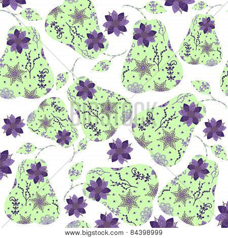 Abstract Fantasy Pear Pattern Or Background
