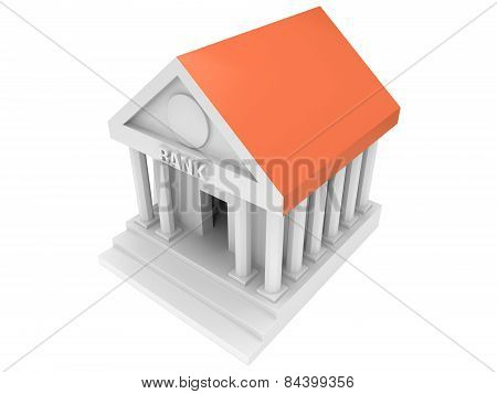 Bank Building 3D Icon