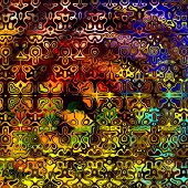 image of psychedelic  - Psychedelic colorful art background - JPG