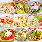 Постер, плакат: Various Salads Collage