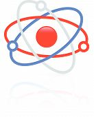 picture of nucleus  - Molecule molecular structure icon symbol - JPG
