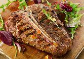 stock photo of bbq food  - Grilled BBQ T - JPG