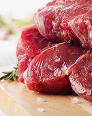 picture of porterhouse steak  - Raw Steak with Seasoning on wooden board - JPG