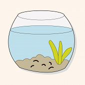 stock photo of goldfish  - Pet Goldfish Bowl Theme Element Vector - JPG