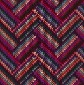 image of knitting  - Style Seamless Red Green Grey Color Knitted Pattern - JPG