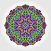 foto of color geometric shape  - Abstract colorful circle backdrop - JPG