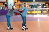 pic of inline skating  - Grace on skates - JPG