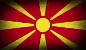 picture of macedonia  - Flag of Macedonia with old texture - JPG