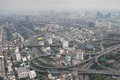 stock photo of smog  - Smog over Bangkok in the city center - JPG