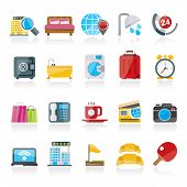 image of motel  - Hotel and motel services icons 1 - JPG