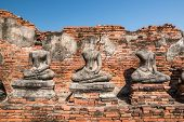 picture of gautama buddha  - Broken Buddha the ancient city of Thailand with ancient architecture style - JPG