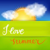 picture of calligraphy  - I Love Summer - JPG