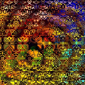 stock photo of peppy  - Psychedelic colorful art background - JPG