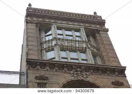 Beautiful Architecture of historic building on Fulton Street in New York