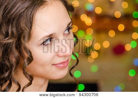 Portrait Of A Girl Looking To The Right