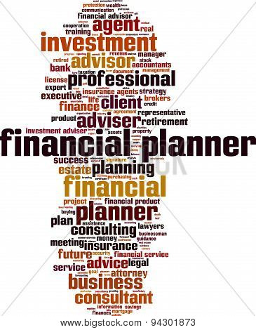 Financial Planner Word Cloud