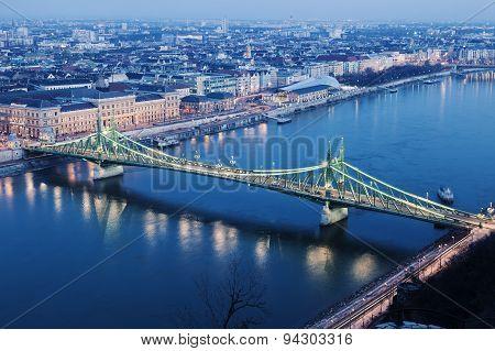 Liberty Bridgeand Danube River