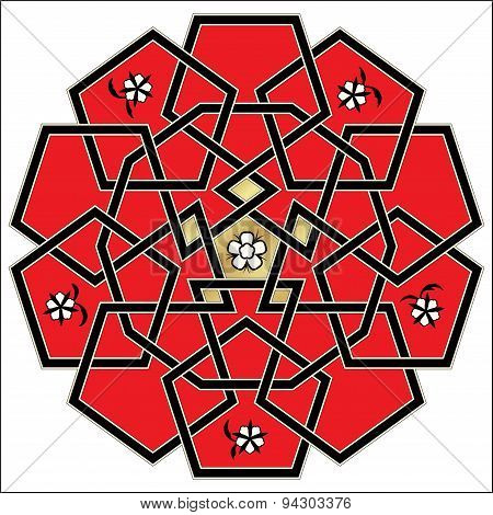 Vector ornament. Celtic knot style