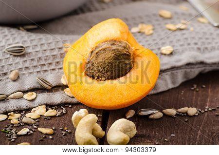 Domestic Apricots Musli Yogurt
