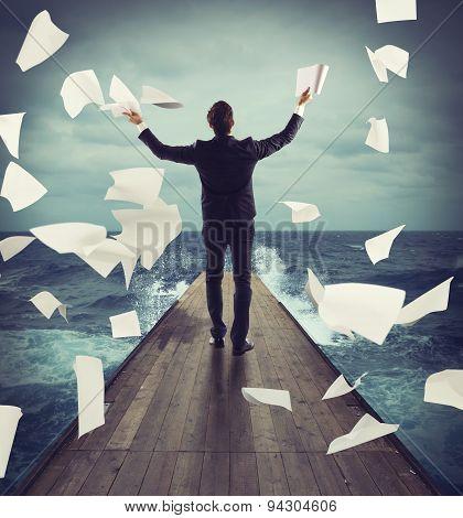 Carefree successful businessman