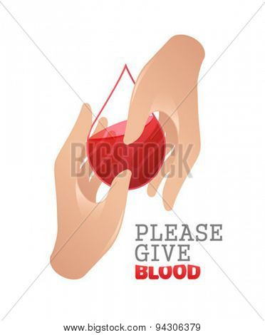 Digitally generated please give blood vector