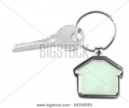 Keys with trinket isolated on white