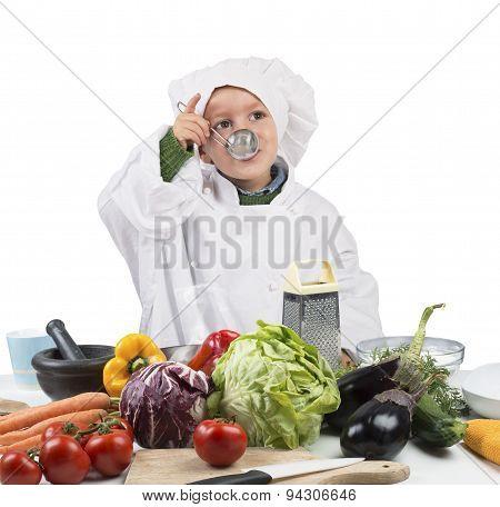Baby cook tastes