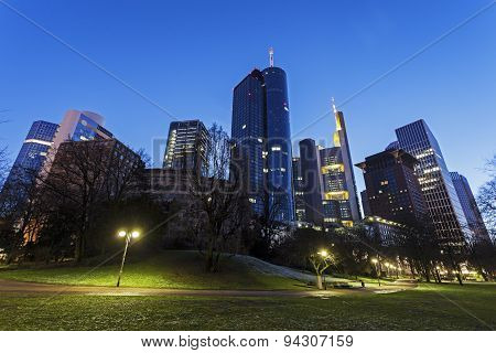 Modern Architecture Of Downtown Of Frankfurt