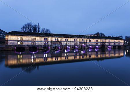 Covered Bridge In Petite-france, Strasbourg