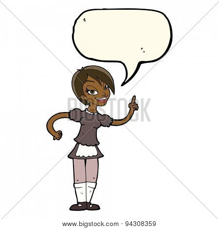 cartoon waitress taking order with speech bubble