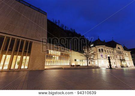 Parliament Building Seen Evening Time