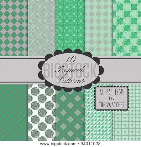 10 seamless patterns collection