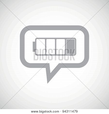 Low battery grey message icon