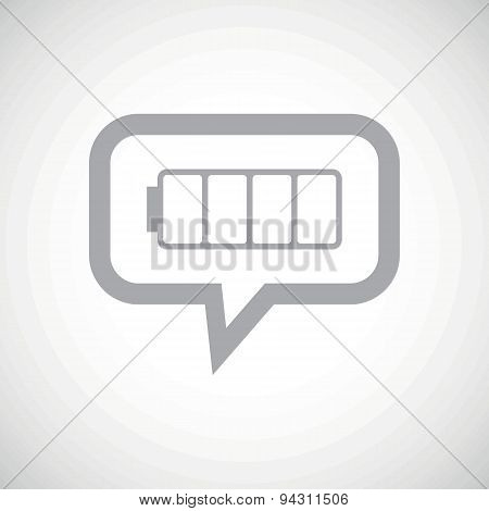 Empty battery grey message icon