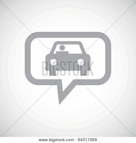 Car grey message icon