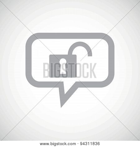Unlocked grey message icon