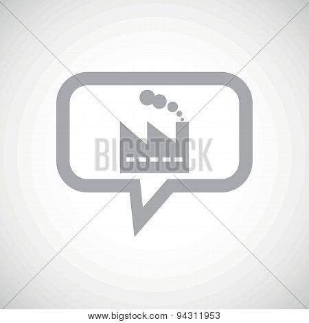 Factory grey message icon