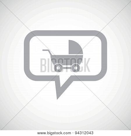 Pram grey message icon