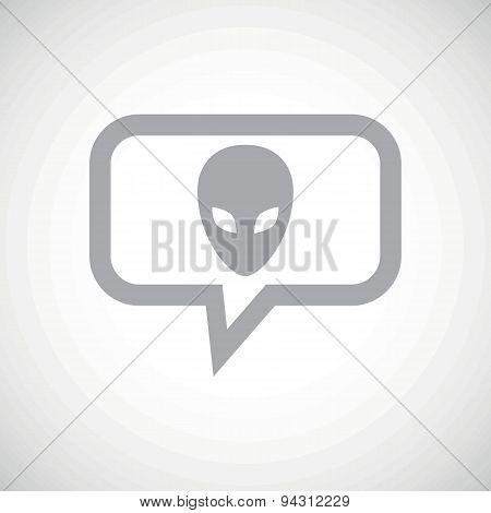 Alien grey message icon