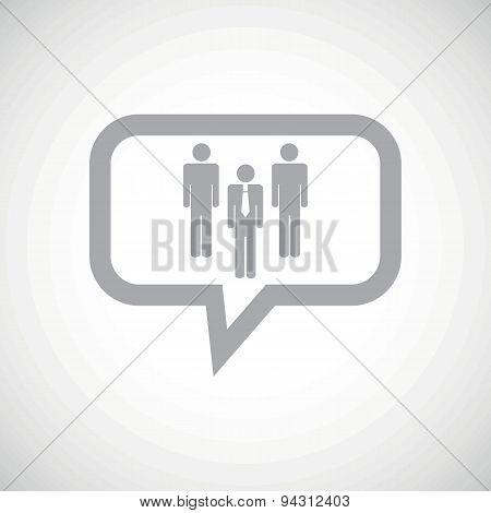 Work team grey message icon