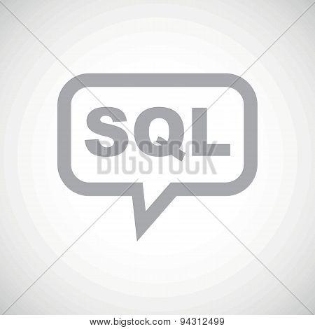 SQL grey message icon