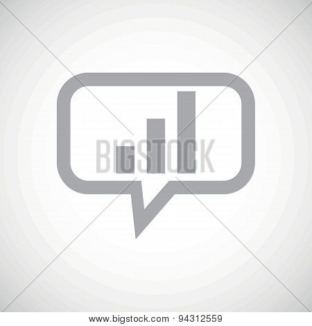 Volume scale grey message icon
