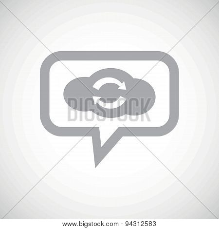 Cloud exchange grey message icon
