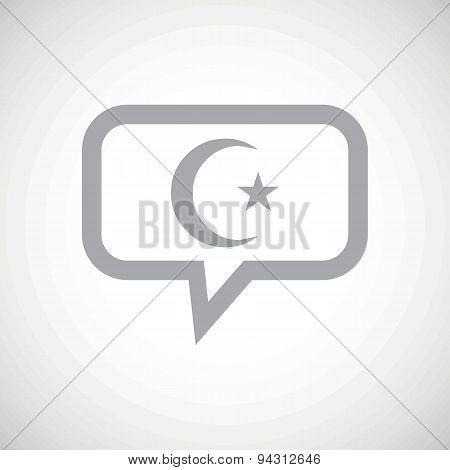 Turkey symbol grey message icon