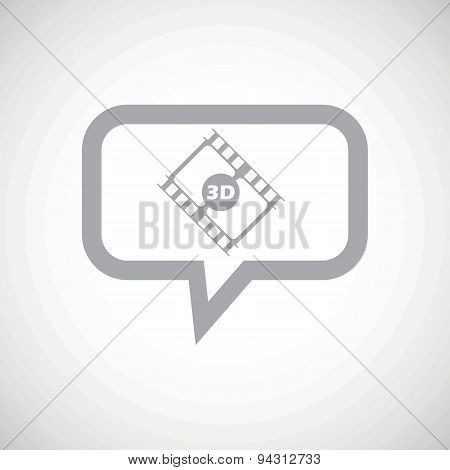 3D movie grey message icon
