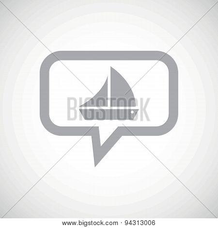 Sailing ship grey message icon